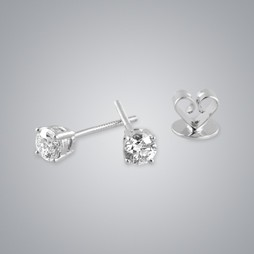Quarter Carat Solitaire Diamond Earrings