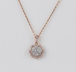 MIKURA Cluster Diamond Pendant