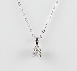 0.27ct Solitaire Diamond Pendant, VS/SI clarity