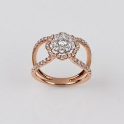 MIKURA Cluster Diamond Ring