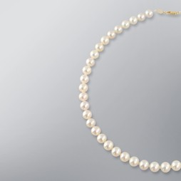 Pearl Necklace with White Freshwater 8.5-8.0mm Pearls