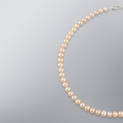 Pearl Necklace with Natural Multicolor Freshwater 7.0-6.5mm Pearls