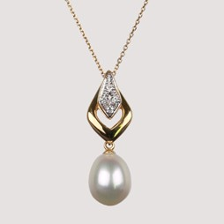Pearl Pendant With 8.0-7.5 mm White Freshwater Pearls
