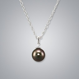 Pearl Pendant with Natural Black South Sea 11.0-10.0 Pearl