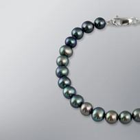 Pearl Bracelet with Treated Black Freshwater 7.0-6.5 mm Pearls