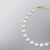 Pearl Bracelet with White Freshwater 6.5-6.0 mm Pearls