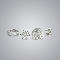 Floral Diamond Convertible Earrings