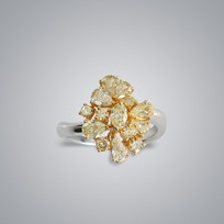 Floral Yellow Diamond Ring