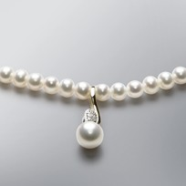 Pearl Necklace with White Freshwater Pearls