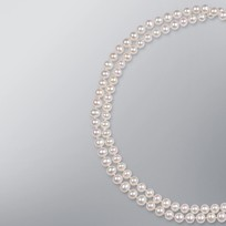 Pearl Necklace with White Freshwater 7.5-7.0 mm Pearls