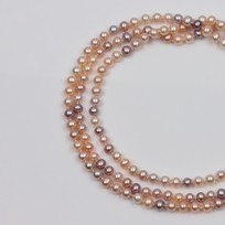 Endless Freshwater Pearl Necklace, Natural Multi Color, 7.5mm