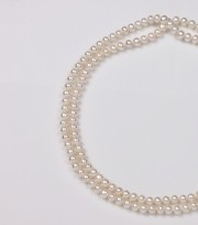 White Endless Freshwater Pearl Necklace, 6.5mm
