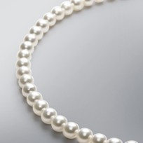 Pearl Necklace with White Japanese Akoya 8.0-7.5 mm Pearls
