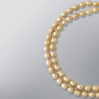 Pearl Necklace with Natural Golden South Sea 10-8.5 mm Pearls